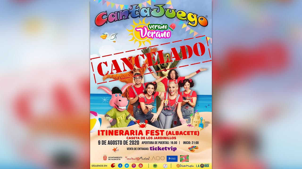 CantaJuegos suspende su actuación en ITINERARIA FEST ALBACETE
