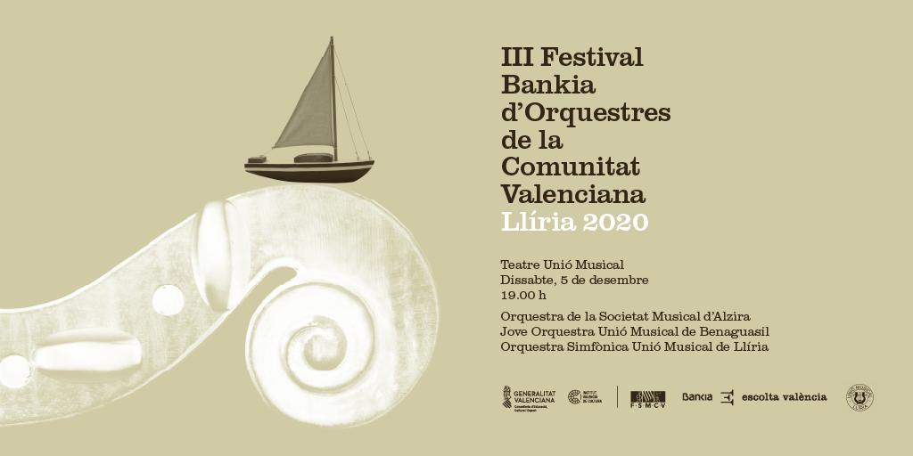 Bankia, el Institut Valencià de Cultura y la FSMCV celebran el  'III Festival Bankia de Orquestas de la Comunidad Valenciana'