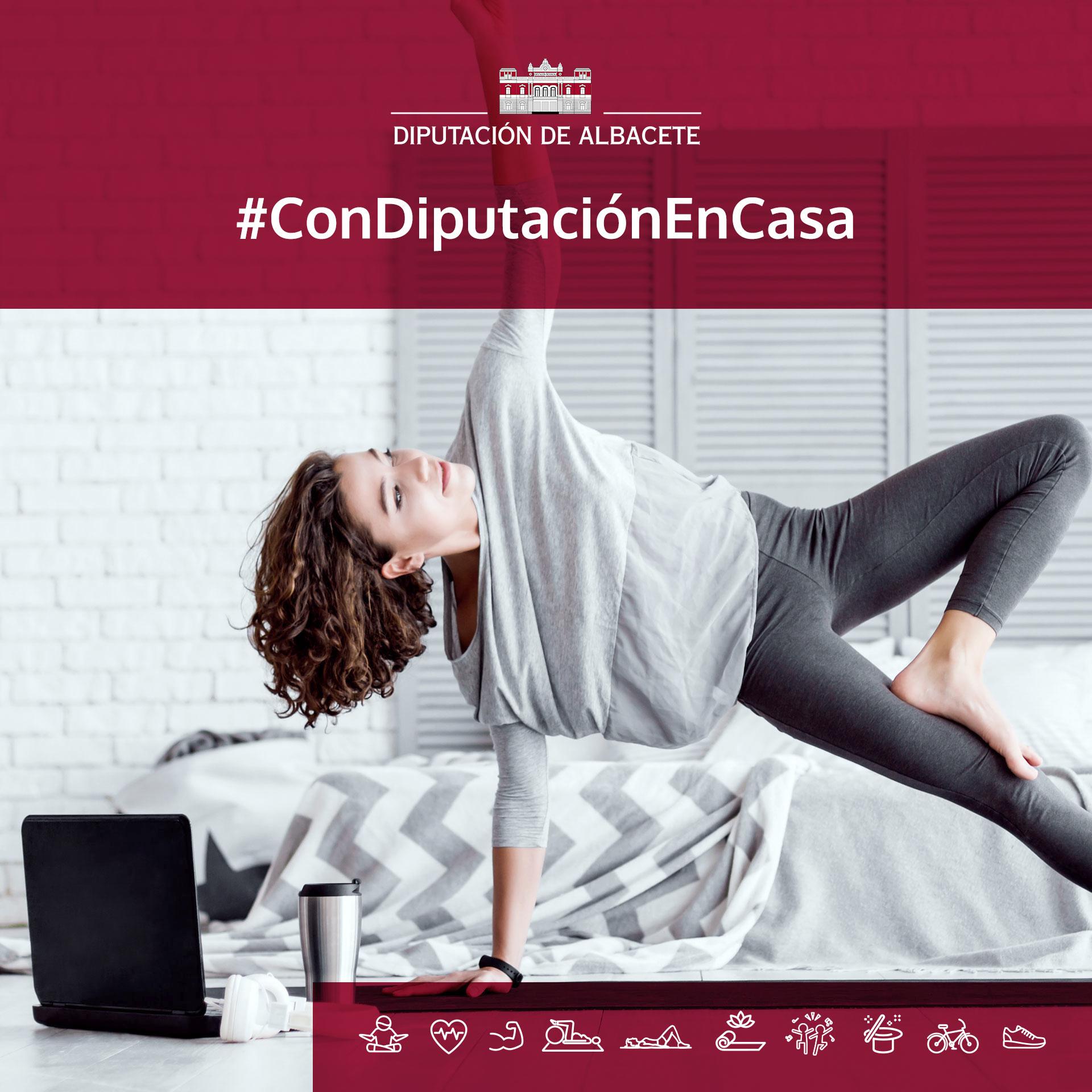 Los Circuitos Deportivos Provinciales hacen más llevadero el confinamiento mediante la iniciativa #Condiputaciónencasa
