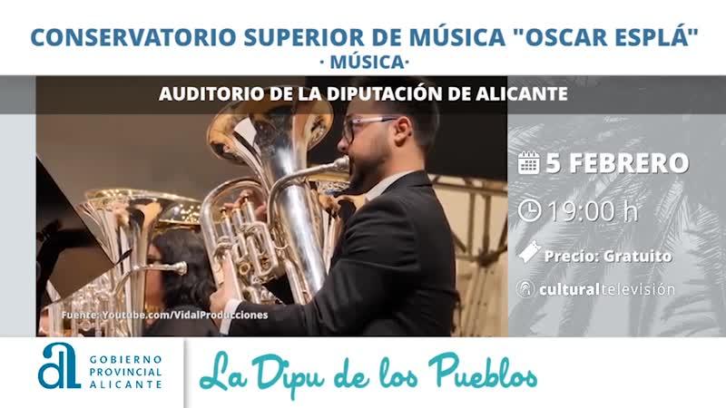 """CONSERVATORIO SUPERIOR DE MÚSICA """"ÓSCAR ESPLÁ"""""""