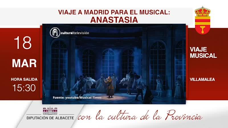 VIAJE A MADRID PARA EL MUSICAL: ANASTASIA