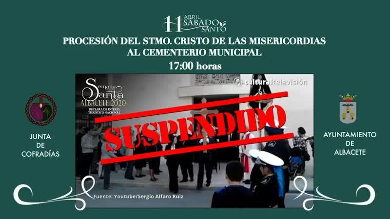 PROCESIÓN DEL STMO. CRISTO DE LAS MISERICORDIAS AL CEMENTERIO MUNICIPAL