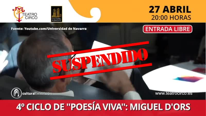 4º CICLO DE ''POESÍA VIVA'': MIGUEL D'ORS