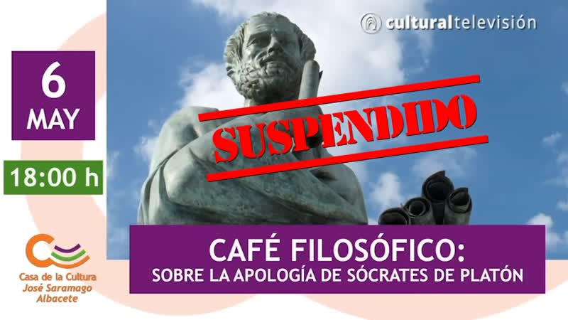 CAFÉ FILOSÓFICO: SOBRE LA APOLOGÍA DE SÓCRATES DE PLATÓN